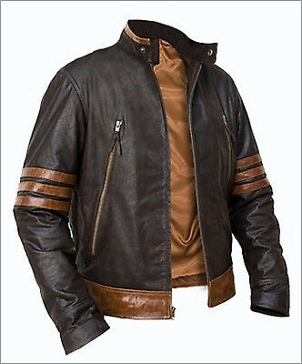 £89.99 • Buy X-Men Wolverine Origins Bomber Style Brown Real Leather Jacket Size S M L XL 3XL