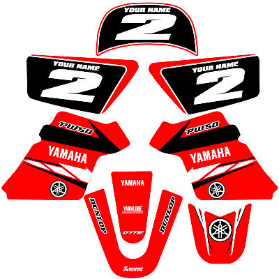 $ CDN60.47 • Buy YAMAHA PW 50 PW50  GRAPHICS KIT DECALS DECO Fits Years 1990 - 2018 Red