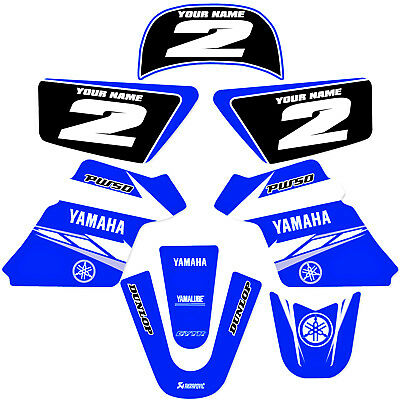 $ CDN60.47 • Buy YAMAHA PW 50 PW50  GRAPHICS KIT DECALS DECO Fits Years 1990 - 2018 Blue