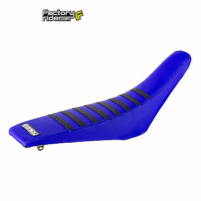 AU70.86 • Buy 2002-2020 Yamaha YZ 125/250 SEAT COVER Ribbed GRIPPER STYLE Blue - Black Ribs