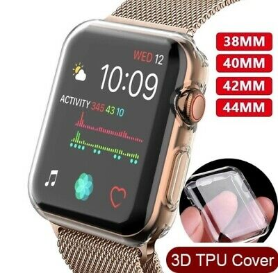 $ CDN0.99 • Buy Full Cover TPU Case IWatch Screen Protector For Apple Watch Series 4 3/ 2 / 1 CA