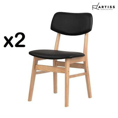 AU93.50 • Buy Artiss 2x Dining Chairs Retro Replica Kitchen Chair Wooden Brown Designer Café
