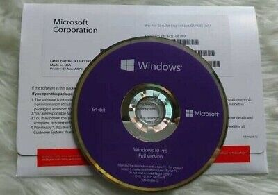 $ CDN145.10 • Buy Microsoft Windows 10 Professional Retail DVD With Key