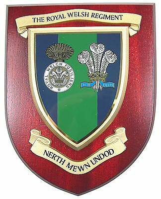 Royal Welsh Regiment Full Cypher Classic Hand Made Regimental Mess Plaque • 19.99£