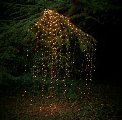$14.99 • Buy Outdoor LED Solar Lights String Waterfall Fairy Icicle Lights Party Garden Decor