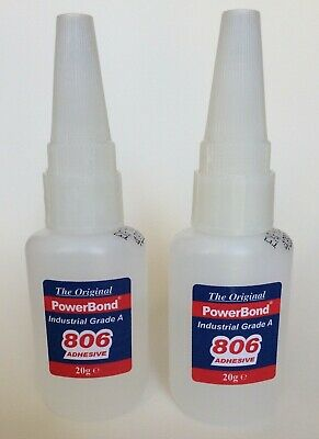 Powerbond 806 Industrial Strength Adhesive - Two LARGE 20g Bottles, 40g In Total • 8.99£