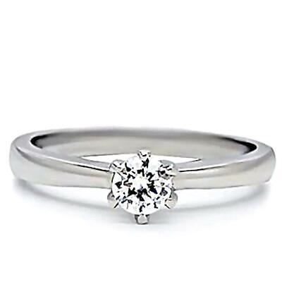 $9.99 • Buy Maylene: 0.50ct Ice On Fire CZ Solitaire Stainless Steel Promise Ring
