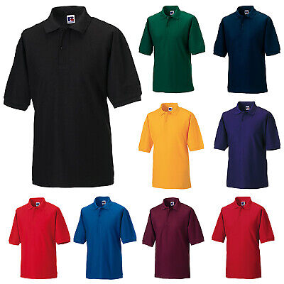 £10.89 • Buy Russell Mens Polycotton Pique Short Sleeve Polo Shirt 539m