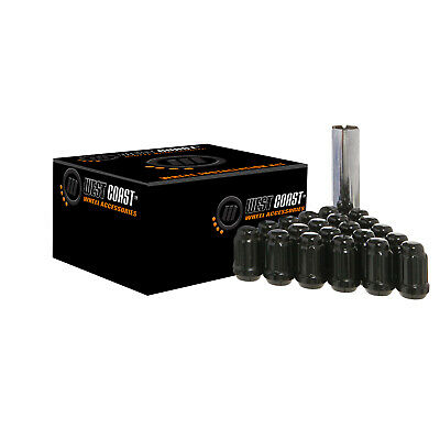 $ CDN85.70 • Buy M12X1.5 West Coast 24 Lug Nut Kit W/Key Black Spline Drive Conical W56015SB