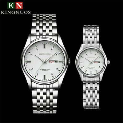 $ CDN10.87 • Buy KINGNUOS Fashion Men Women Stainless Steel Band Quartz Analog Sport Wrist Watch