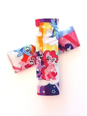 Baby Child Seat Belt Strap Covers Pram Stroller Car Seat - My Little Pony • 7.80£