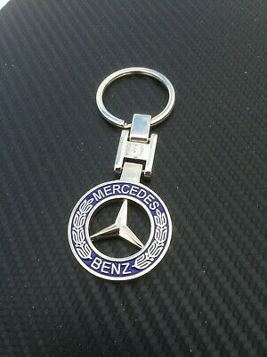 AU9.95 • Buy Mercedes Benz Classic Logo Stainless Keyring Key Ring Key Chain Square Joint