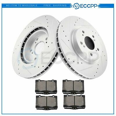 $117.65 • Buy Front Discs Brake Rotors And Ceramic Pads For Acura RL 2005 - 2012 Drill Slot
