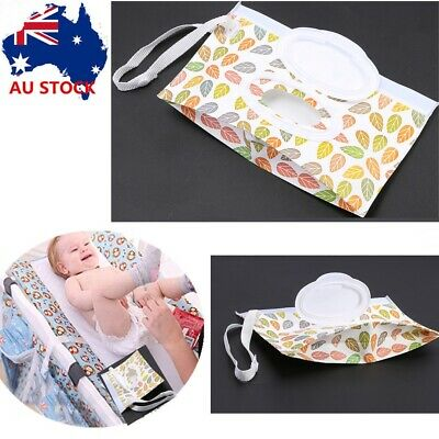 AU7.50 • Buy EVA Baby Wet Wipe Pouch Wipes Holder Case Reusable Refillable Wet Wipe Bag BS