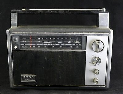 $119.99 • Buy Vtg 1970 Sony 7F-82W Solid State 12-Transistor 4-Band Portable Radio FM AM Japan