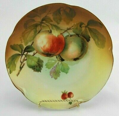 $15.75 • Buy Antique J & C Bavaria  Louise  Hand Painted Signed Porcelain Plate Apples 7.5