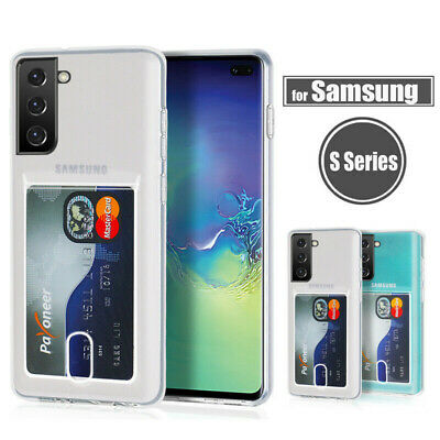 $ CDN3.61 • Buy For Samsung Galaxy S21 S20 A32 A52 A72 A71 Credit Card Holder Clear Case Cover