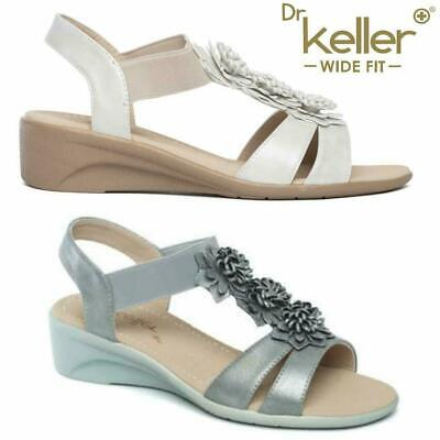 Ladies Wedge Sandals New Womens Wide Fit Summer Dress Heels Party Shoes Size • 16.95£
