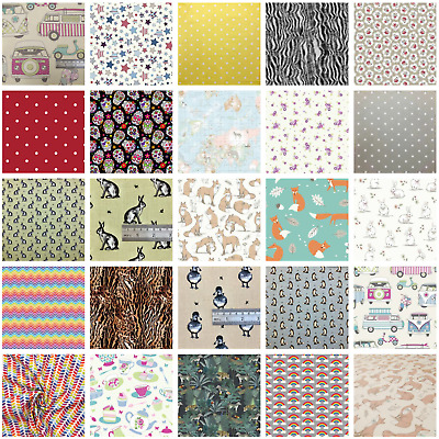 £4.50 • Buy 100% Cotton Crafting Fabric By The Metre, Fat Quarter 55 Inch Width Soft Crafts