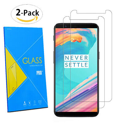 AU8.14 • Buy For OnePlus 5T 6.01  2017 - 2-Pack Tempered Glasses Screen Guard Protector Film