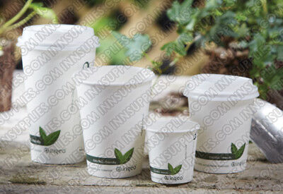 50/1000 Biodegradable Paper Cups Coffee Compostable Disposable Tea (4,8,12,16oz) • 30£