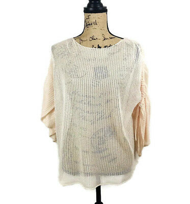 $19.54 • Buy Zara The Knitwear Collection Women's Crochet Oversize Top Size Small Nwt