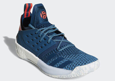 7ec262923f26 Adidas James Harden Vol 2 Primeknit BLUE NIGHT CYAN RED WHITE AH2216 Boost  Men s • 85.49