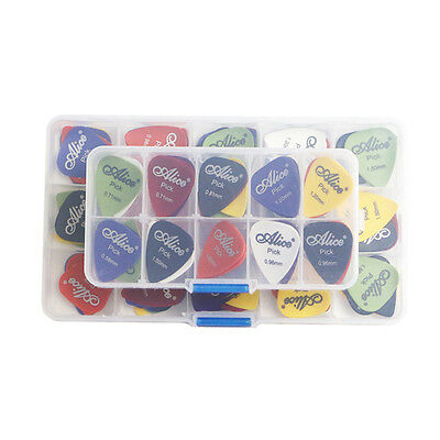 $ CDN8.18 • Buy 24-100PCS Acoustic Electric Guitar Picks Plectrum Various 6 Thickness With Case