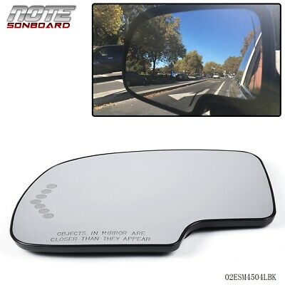 $14.50 • Buy Heated Mirror Glass Power Turn Signal LED Driver Side LH For Chevy GMC Cadillac