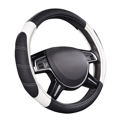 $15.99 • Buy CAR PASS Car Steering Wheel Cover White Leather Durable Universal For Car Truck