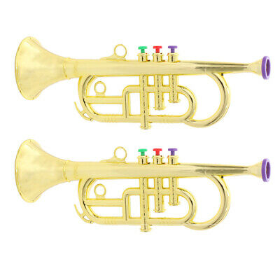 2pcs Trumpet Horn Wind Instrument Musical Toy For Kids Party Favor Gift • 17.30£