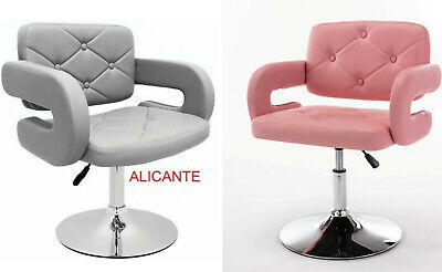 £71.95 • Buy Grey / Pink Leather Style Hairdresser Swivel Chair Beauty Salon Furniture