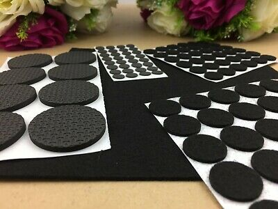 AU5.89 • Buy 125 X Felt Round Pad Furniture Floor Protector Pads Self Adhesive Scratch Tabs