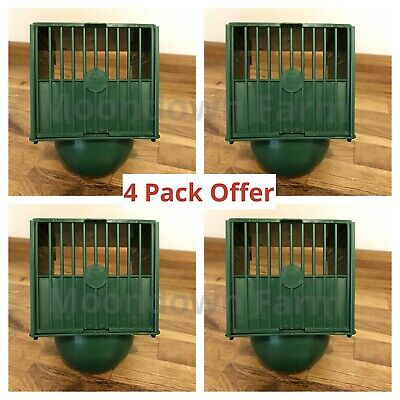 4 X Plastic Canary Nest Pan Hangs On Outside Of Cage For Canaries, Finches Etc • 13.85£