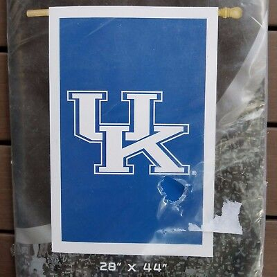 $23.99 • Buy University Of Kentucky Collegiate Applique Flag 28  X 44  Double Embroidered