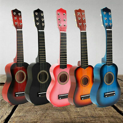 21  Inch Childrens Kids Wooden Acoustic Guitar Musical Instrument Child Toy Gift • 13.99£
