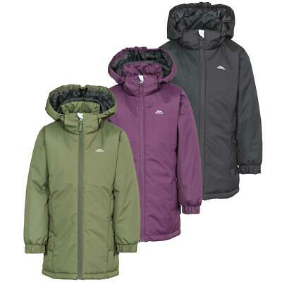 Trespass Primula Girls Padded Hooded Water Resistant Coat Quilted School Jacket • 16.96£