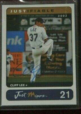 $90 • Buy 2002 Cliff Lee Justifiable Auto. # 219/400 Card # 21