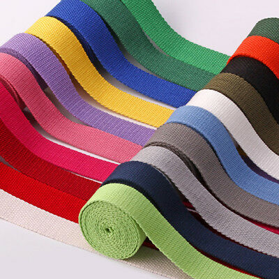 Heavy Duty Cotton Webbing Tape Strap 25mm Bag Handles Canvas Fabric Belting • 0.99£