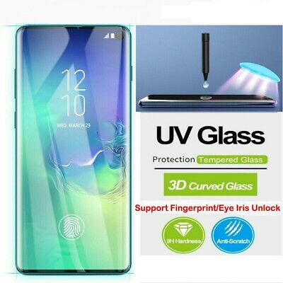 AU10.95 • Buy Samsung Galaxy Note S21 20 S10 S9 S8 9 8 Plus UV Tempered Glass Screen Protector
