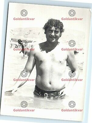 $ CDN21.18 • Buy HANDSOME MAN SHIRTLESS AFFECTIONATE Hairy Chest Photo Gay INT Vintage PL-01