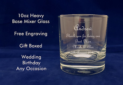 Personalised 10oz Whisky Glass Birthday Gift 18th 21st 30th 40th 50th 60th 70th • 8.99£