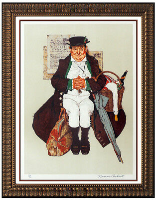 $ CDN4313.48 • Buy Norman Rockwell Muggleton Stagecoach Saturday Evening Post Lithograph Signed Art