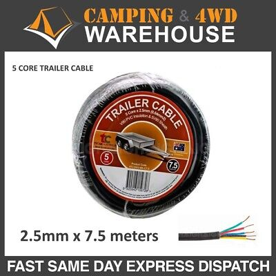 AU18.95 • Buy 7.5 M  X 5 Core Wire Cable Trailer Cable Automotive Boat Caravan Truck