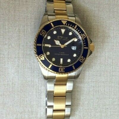 $121.50 • Buy Daniel Steiger Two Tone Submariner Men's Watch Round Blue Dial S3052T-M New!