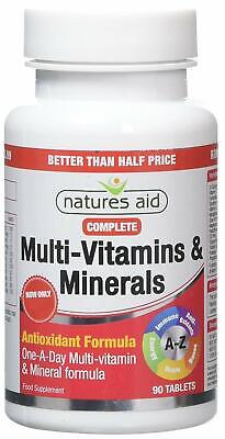 Natures Aid Complete Multi Vitamins And Minerals Tablets - Pack Of 90 Tablets • 7.80£