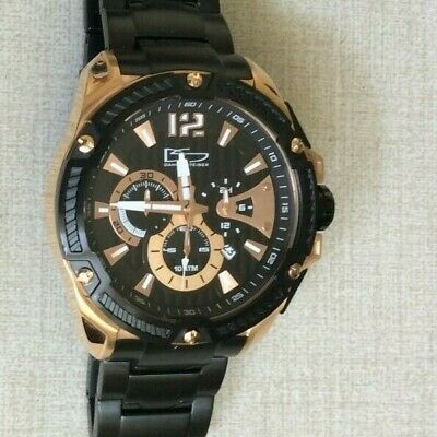 Daniel Steiger Men's Watch Matrix 9510RG Black & Rose Gold WR/10ATM Brand New! • 126$