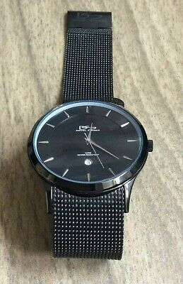 Daniel Steiger Men's Watch Black Round Dial On Black Mesh Style Band Brand New! • 121.50$