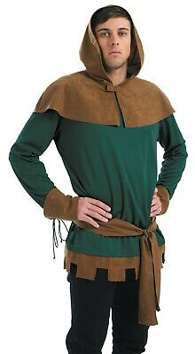 Mens Robin Hood Costume Adult Prince Of Thieves Outlaw Fancy Dress M L XL Archer • 29.95£