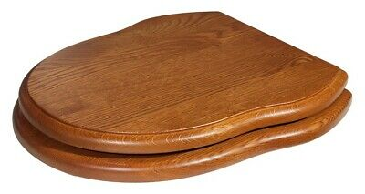 Traditional Solid Wood Gladstone Toilet Seat Various Finishes • 269£